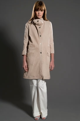 Peter Som Leather Long Anorak