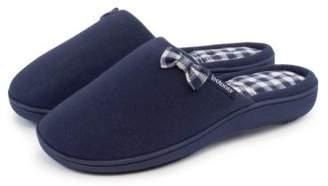 Isotoner Ladies Gingham Mule Slippers