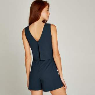 64a08dc310 Apricot Navy Double Layer Playsuit