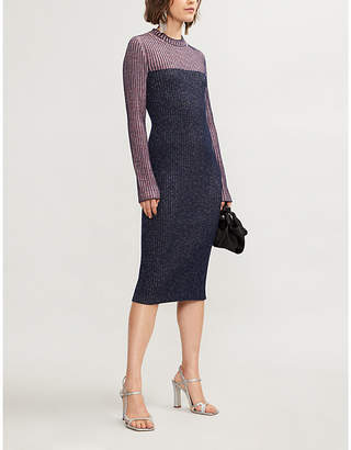 Sportmax Pania contrast-knit dress