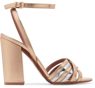 Tabitha Simmons Toni Two-tone Metallic Leather Sandals - Gold