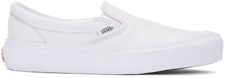 Vans White OG Classic LX Slip-On Sneakers $80 thestylecure.com