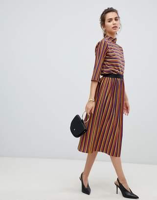 B.young metallic stripe skirt