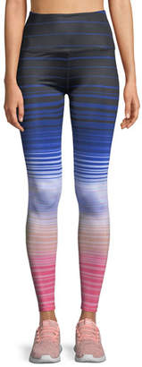 Beyond Yoga Lux Striped High-Waist Leggings