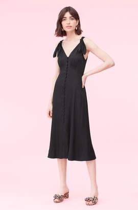 Rebecca Taylor Silk Twill Bow Dress