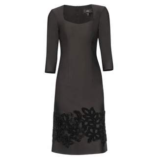 Nissa Casual Black Dress With 3/4 Sleeves