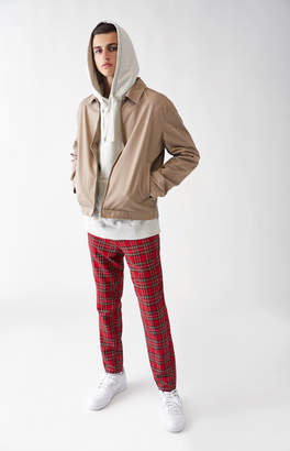 Pacsun Skinny Plaid Red Trouser Pants