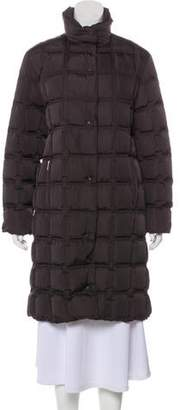 Moncler Quilted Knee-Length Coat