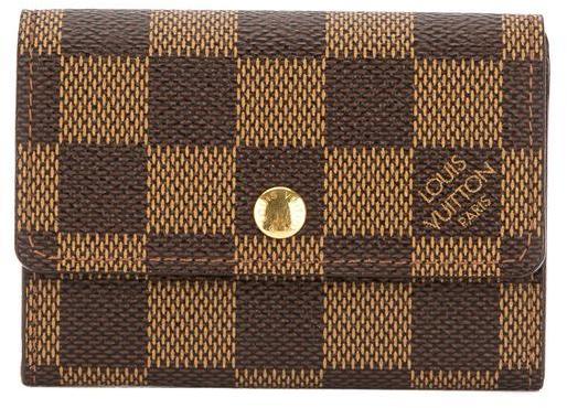 Louis VuittonLouis Vuitton Damier Ebene Canvas Porte-Monnaie Plat Coin Case (Pre Owned)