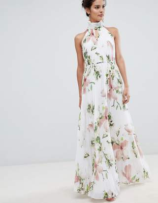 Ted Baker pleated maxi dress in harmony floral print