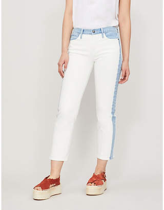 Frame Panelled faded straight high-rise jeans