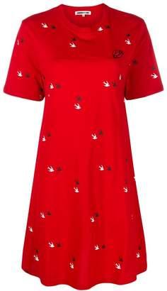 McQ Swallow twins T-shirt dress