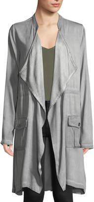 XCVI Chandler Drape-Front Stretch-Twill Jacket w/ Patch Pockets