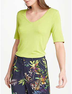 Oui Short Sleeve V-Neck T-Shirt, Lime