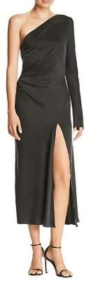 Bec & Bridge Lucia One-Shoulder Silk Dress