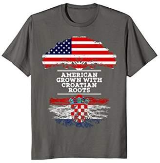 Gift For Croatian - American Grown Croatian Roots T Shirt