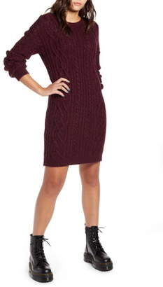 BP Long Sleeve Cable Knit Sweater Dress