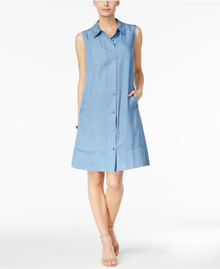 Style & Co Denim Shirtdress, Only at Macy's