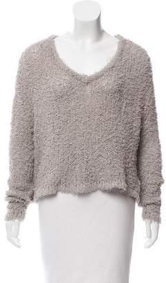 J Brand Frayed Oversize Sweater