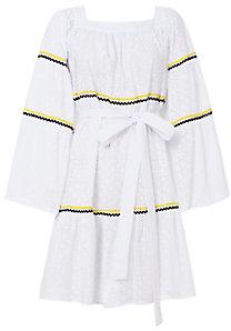 Lisa Marie Fernandez Peasant Eyelet Dress $695 thestylecure.com