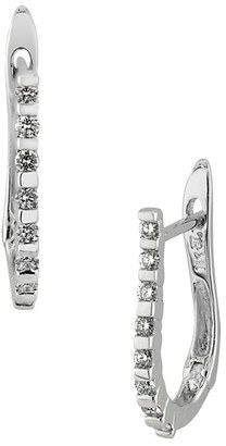 Women's Bony Levy Diamond J-Hoop Earrings (Nordstrom Exclusive) $895 thestylecure.com