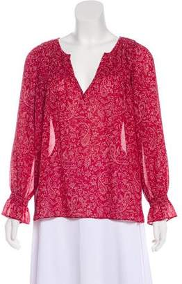 BA&SH Printed Long Sleeve Blouse
