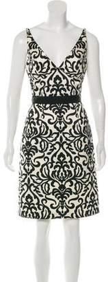 Milly Damask Print A-Line Dress