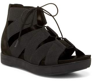 Eileen Fisher Link Lace-Up Flat Sandal (Women)