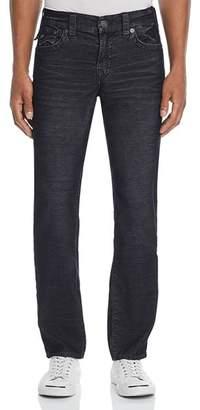 True Religion Geno Straight Slim Corduroy Pants in Black