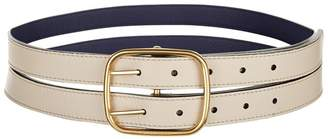 Burberry Double Strap Leather Belt