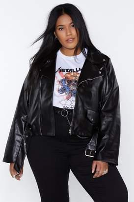 Nasty Gal Moto Finish Faux Leather Jacket