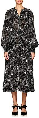 Co Women's Floral Wool Gauze Shirtdress
