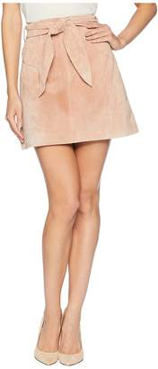 Blank NYC Belted Pink Suede Skirt in Candy Crush Women's Skirt