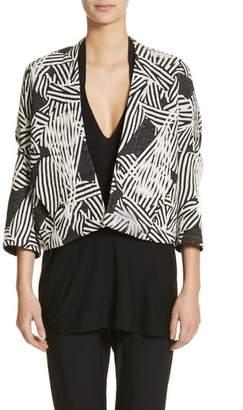 Zero Maria Cornejo Bow Print Jacquard Jacket
