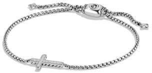 David Yurman Pave Cross Bracelet With Diamonds