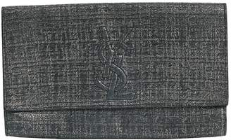 96883d0265 Saint Laurent Belle de Jour Grey Cloth Clutch Bag