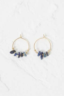 French Connection Beach Stone Hoop Earrings