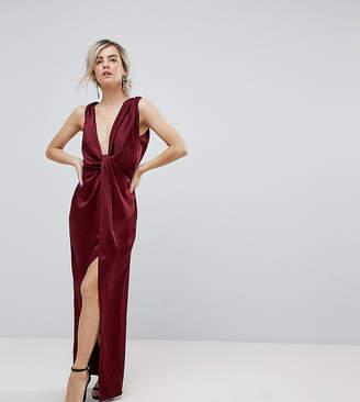 Asos Drape Satin Maxi Dress