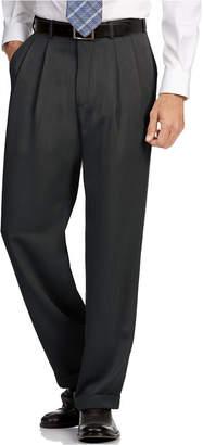Perry Ellis Portfolio Classic Fit Double Pleat No Iron Microfiber Melange Men Dress Pants