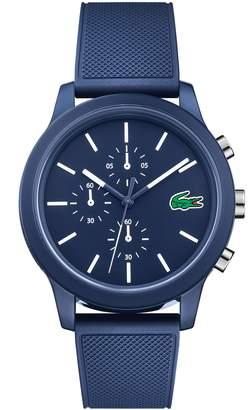 Lacoste 12.12 Chronograph Silicone Band Watch, 44mm
