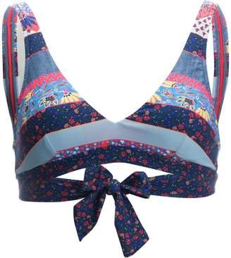Seafolly Caribbean Kool Tie Back Tank Bikini Top - Women's