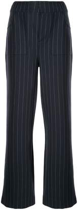 Ganni pinstriped wide-leg trousers
