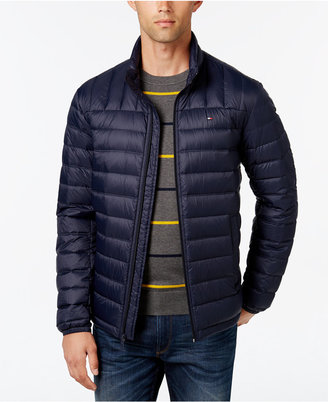Tommy Hilfiger Men's Big & Tall Nylon Packable Jacket $225 thestylecure.com