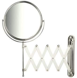 Jerdon 7X-1X Wall Mirror, Chrome