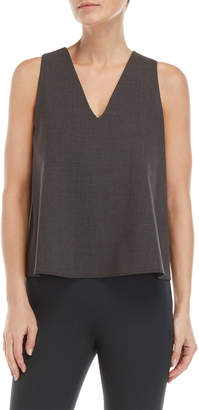 Hache Wool Boxy V-Neck Top