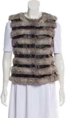 Diane von Furstenberg Fur-Trimmed Vest