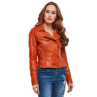 Joe Browns Orange 'Joe's' Leather Jacket