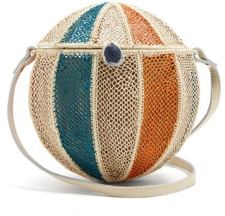 Sophie Anderson - Meylin Woven Grass Cross Body Bag - Womens - Cream Multi