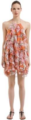 Emilio Pucci Ruffled Crepe De Chine Dress