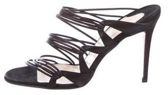 Christian Louboutin Suede Slide Sandals